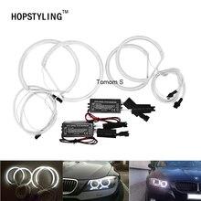 2*131 мм + 2*104 мм CCFL Angel Eyes ксенон белый фары автомобиля для BMW E46 компактный E83 x3 2000 ~ 2010 Бесплатная ошибка автомобиль-Стайлинг аксессуар