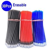 30Pcs/Set Office Erasable Refill Rod Magic Pen 0.5mm Blue Red Black Gel Stationery Writing Tools