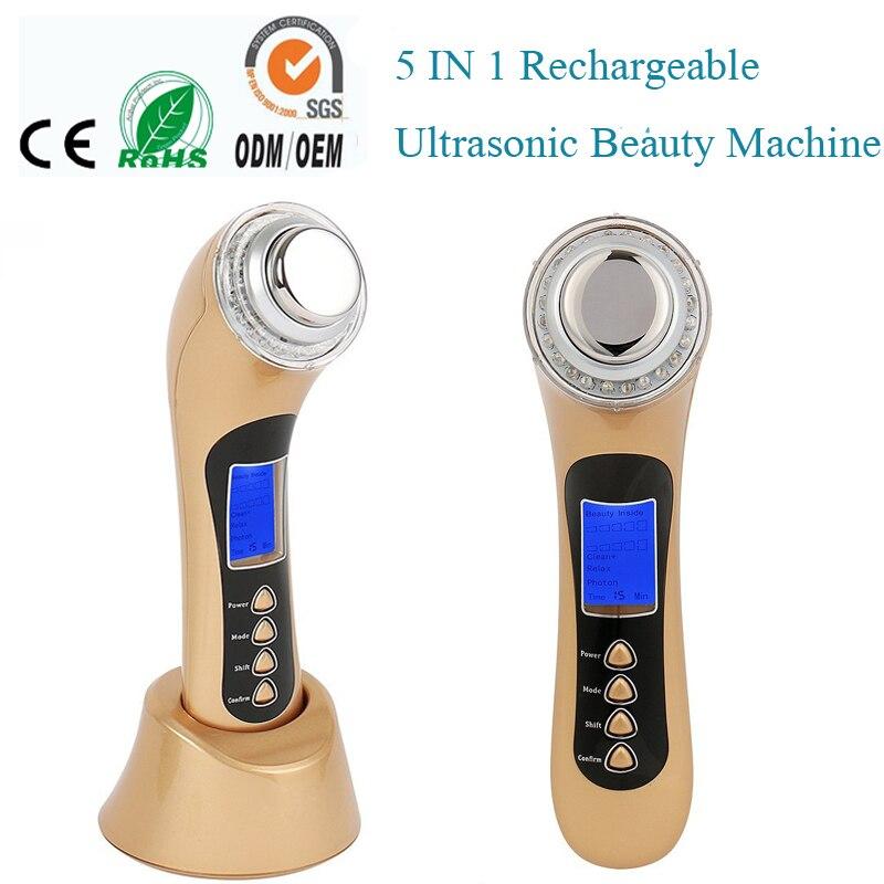 3 mhz Ultrasuoni Galvanico Photon Fisioterapia Viso Pori Pigmento di Trucco Macchia di Pulizia Viso di Sollevamento Della Pelle di Serraggio Attrezzature