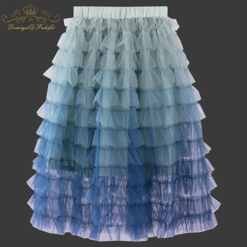 Girls Mesh Skirts 2018 Fashion Brand Summer Robe Fille Enfant Tutu Skirt Kids Clothes Colorful Tiered Skirts Children Pettiskirt girls tiered ruffle hem flare skirt
