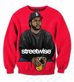 3 Colors Real USA Size Custom made Ice Cube Streetwise 3D Sublimation print Crewneck Sweatshirts plus size