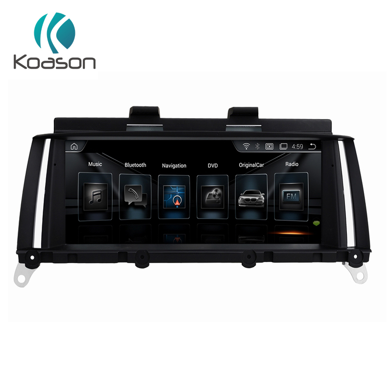 Koason 2G RAM Android 7.1 Auto Radio 8.8 player De Vídeo Do Carro GPS para BMW X3 F25 Polegada X4 F26 2013-2017 NBT Estéreo DAB Áudio DVR