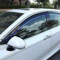 For Toyota Camry XV70 2018 Plastic Car Styling Exterior Accessories Car Window Visor Vent Shade Rain/Sun/Wind Guard Trim 4pcs Interior Mouldings     -