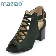 6f11f87a6 MAZIAO الايطالية صنادل طراز جلاديتور حذاء نسائي بكعب عالٍ أحذية مثير وقف  خارج أحذية السيدات صناديل