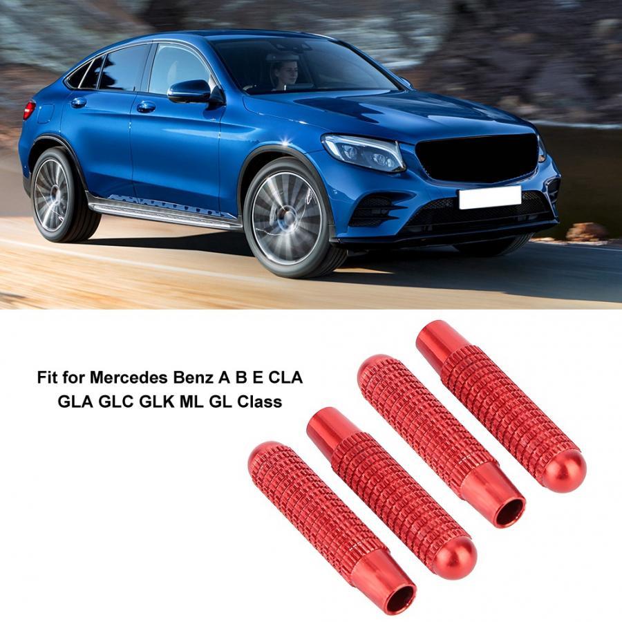 Fit for Mercedes Benz Car Interior Bling Accessories A B E Class ML GLA CLA GLK Car Door Lock Pull Rod Bolt 3D Rhinestone Decals Cover Silver