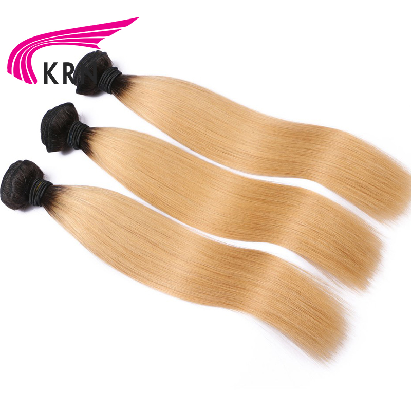 KRA 1b/27 Straight Hair Bundles 8-30 Inch Remy Hair 3 Pieces 100% Brazilian Human Hair Extensions Full End Fast Shipping