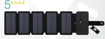 Φορτιστής Ηλιακών Κυψελών Αναδιπλούμενος 10w 5v 2.1Α Έξοδοι usb Φορητά Ηλιακά Πάνελ