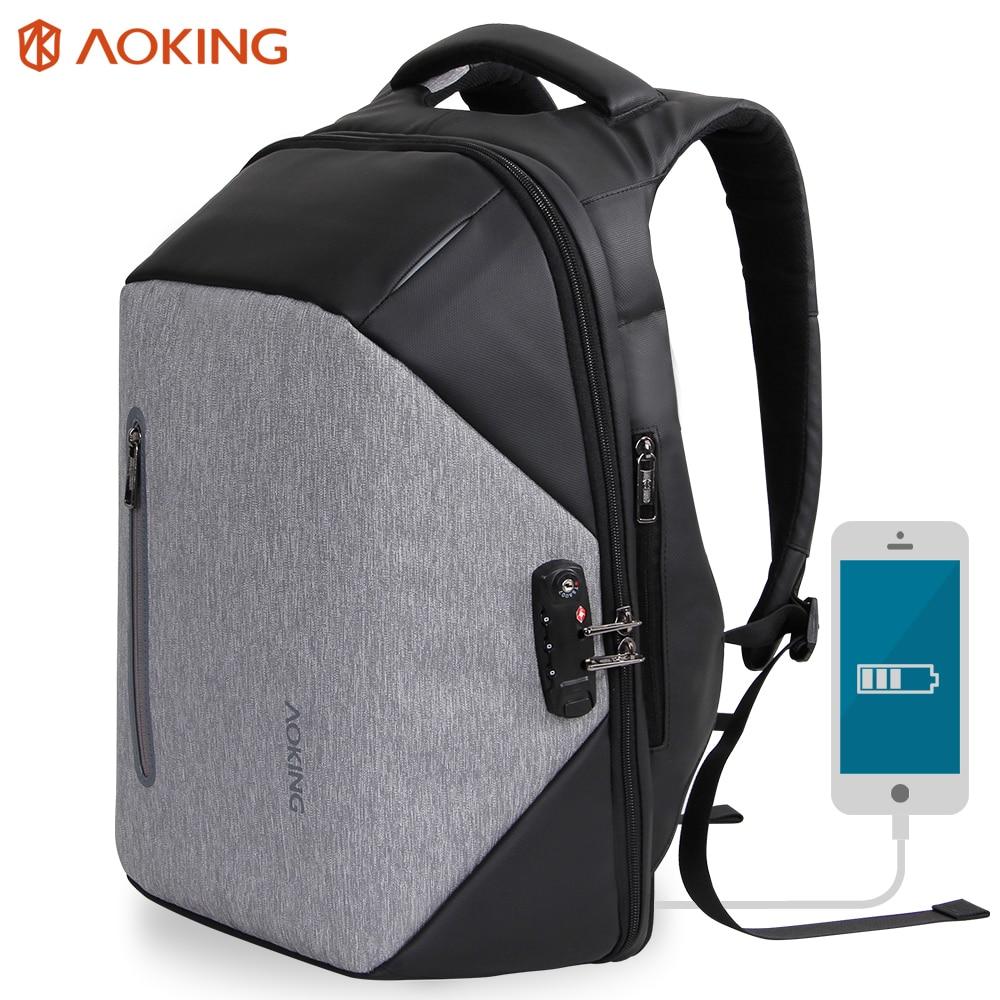 Aoking Multifunctional Anti Thief Backpack Uni Men S Lightweight Travel Bag