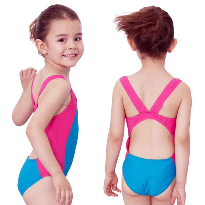 Outdoor  Baby Girl One Piece Swimming Swimsuit Professional Swimwear Summer Bathing Suit Scoopback Design High Elasticity M-XXXL