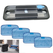 1 Pcs Wet Tray &4 Pro-Clean Mopping Cloths For Irobot Braava 380 380T 5200 Mint5200C 4200A 4205 Floor Cleaning