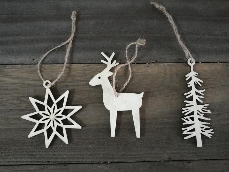 madera adornos para rboles de navidad la forma del rbol deershape y forma de