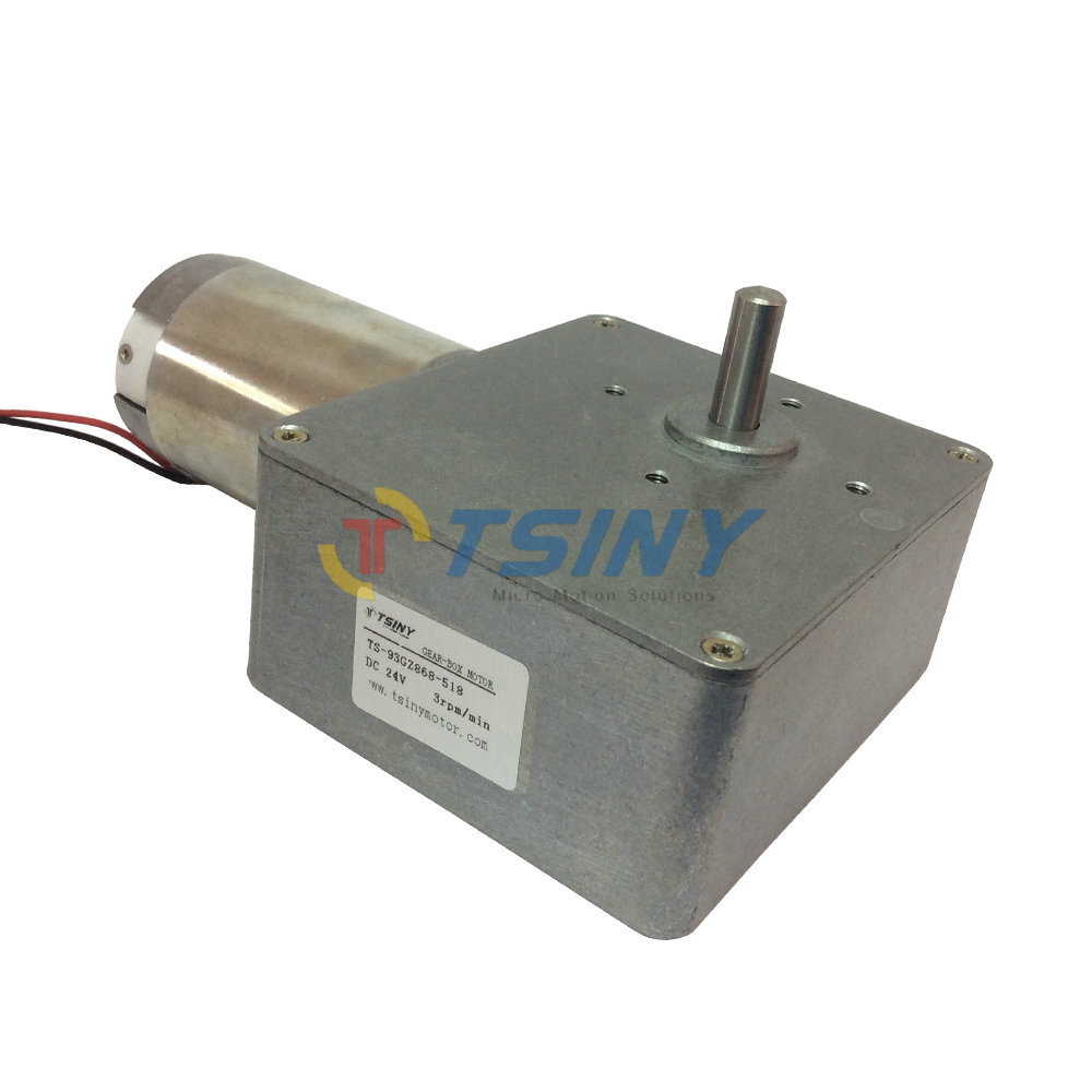цена на DC Motor Low Speed 24V 3RPM High Torque 115kg.cm Electric Worm Gear Reducer Motor Out Shaft 8mm