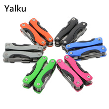 Yalku Folding Knife Pliers Multitool Pliers Outdoor Multitool Hand Tool Bottle Wrench Plier Files Jaw Saw Knife Multifunctional