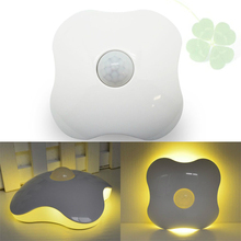LED Night Light DC5V PIR Auto Motion Sensor Battery / USB Novelty Atmosphere Emergency Table Lamp for Kids Children White/Yellow