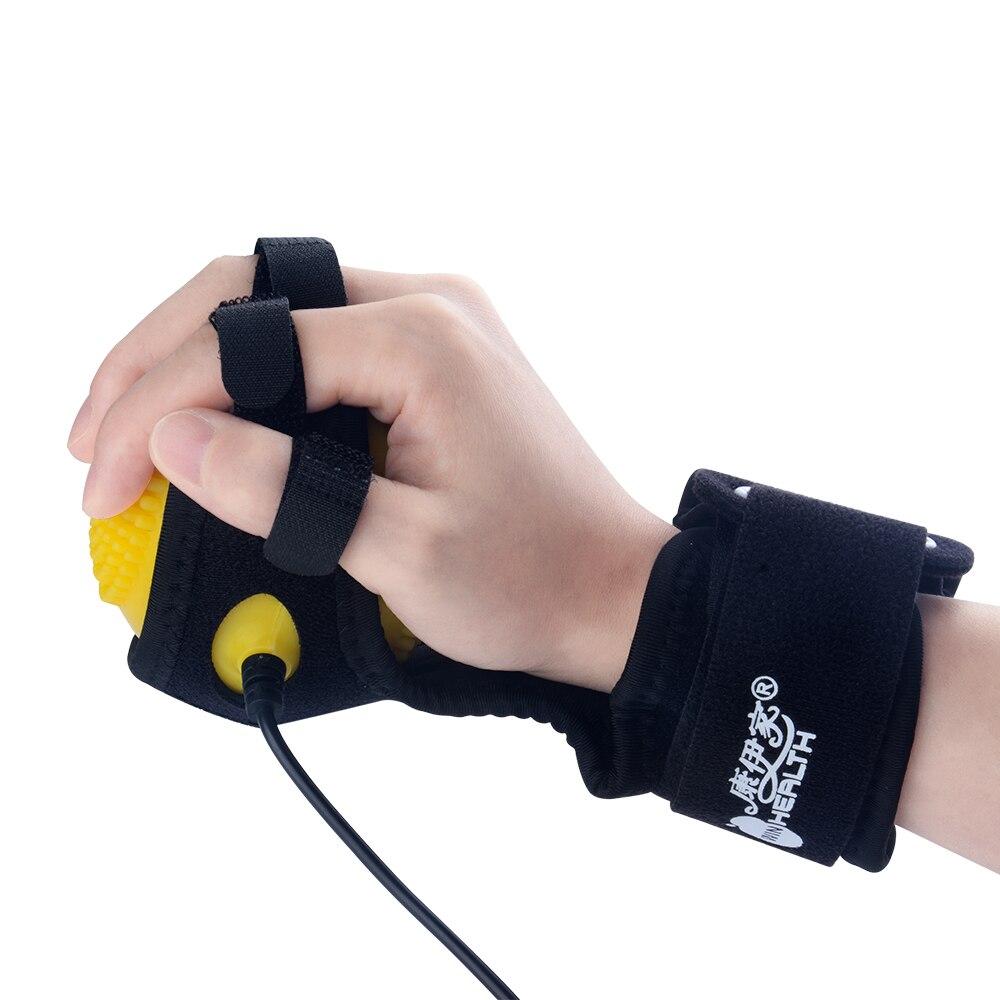 Hemiplegia équipement de récupération de doigt formation électrique compresse chaude Massage balles d'entraînement électrique balle de Massage planche à doigt