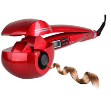 New Automatic LCD Anti Scalding Curling Iron Hair Heating Curler Wand Styling Tools Styler Curl Iron Ceramic Curlers Spiral WXB