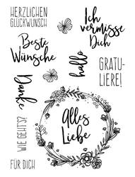 Deutsch blume Transparent Klar Silikon Stempel/dichtung für DIY Scrapbooking/Album Dekorative Klare Stempel Blätter A1025