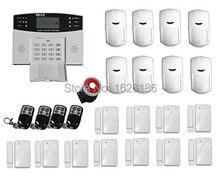 Freeshipping DHL GSM Wireless Alarm LCD Display Wireless SMS Home GSM Alarm House Intelligent Burglar Security Alarm System