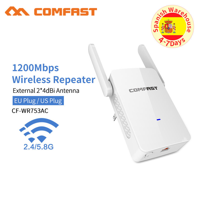 Powerful Wireless Wifi Repeater/Router 1200mbps 2.4G&5G Dual Band Wifi Signal Amplifier AP Signal Booster Network Range Extender