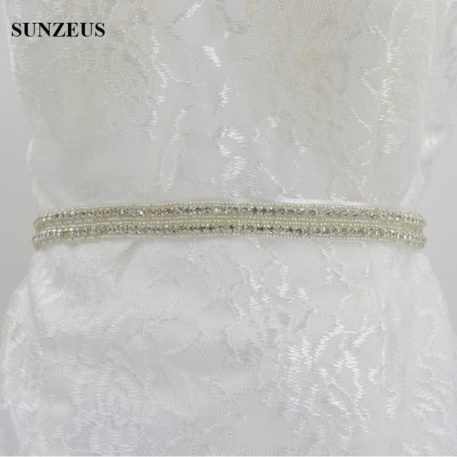 Sparkly Bridal Belts with Crystals Long Bridal Belt Accessories Girls Evening Party Accessories Women's Sashes S591