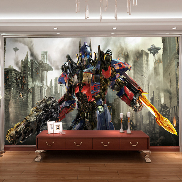 3D Transformers photo wallpaper Optimus Prime Wall Mural Custom Silk  Wallpaper Painting Boy Room decor Kid. Transformers Bedroom Accessories