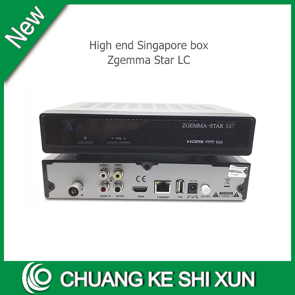 Latest high quality model Zgemma star LC box stable for Singapore starhub channels with 2 USB