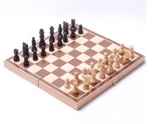 Size 4 Hot Sale New Design Foldable Wooden Chess 3 in 1 set of wooden International Travel Games chess