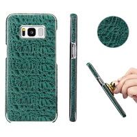 Genuine Leather For Samsung Galaxy S8 Cover Crocodile First Layer Leather Magnetic Phone Back Cases For Samsung S8 Plus Fundas