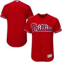 MLB Men's Philadelphia Phillies Baseball Fashion Scarlet Flex Base Authentic Collection Team Jersey