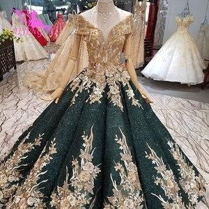 Image 1 - AIJINGYU Wedding Dresses Dubai Sleeve Gowns Bolero Luxury Ivory Long Boho Lace For Sale Sexy Gown engagement Wedding Decorations