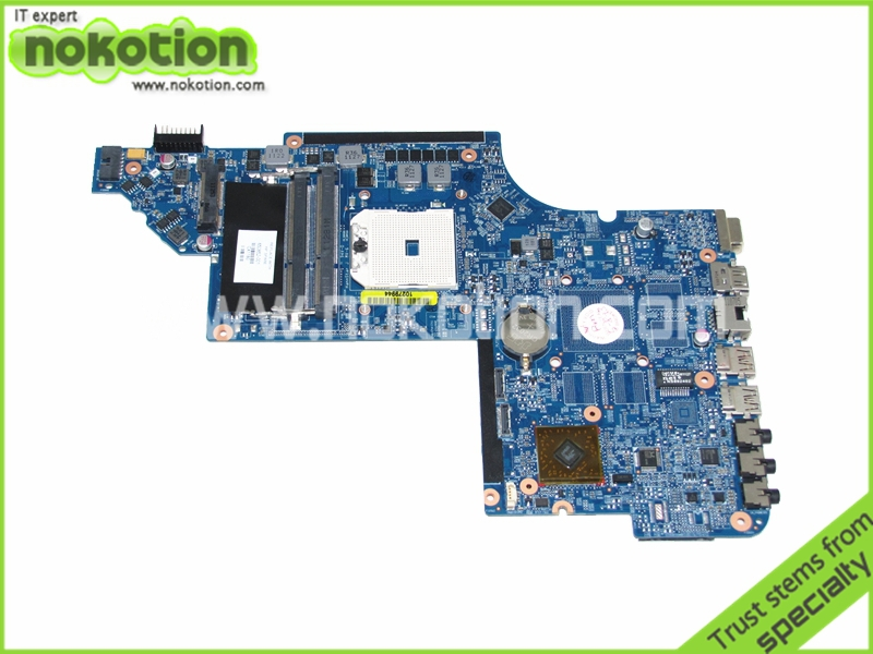 NOKOTION 650852-001 For Hp DV6 DV6-6000 Laptop Motherboard DDR3 Socket fs1 high quanlity Tested for hp pavilion dv6 6000 notebook dv6z 6100 dv6 6000 laptop motherboard 650854 001 main board ddr3 hd6750 1g 100%
