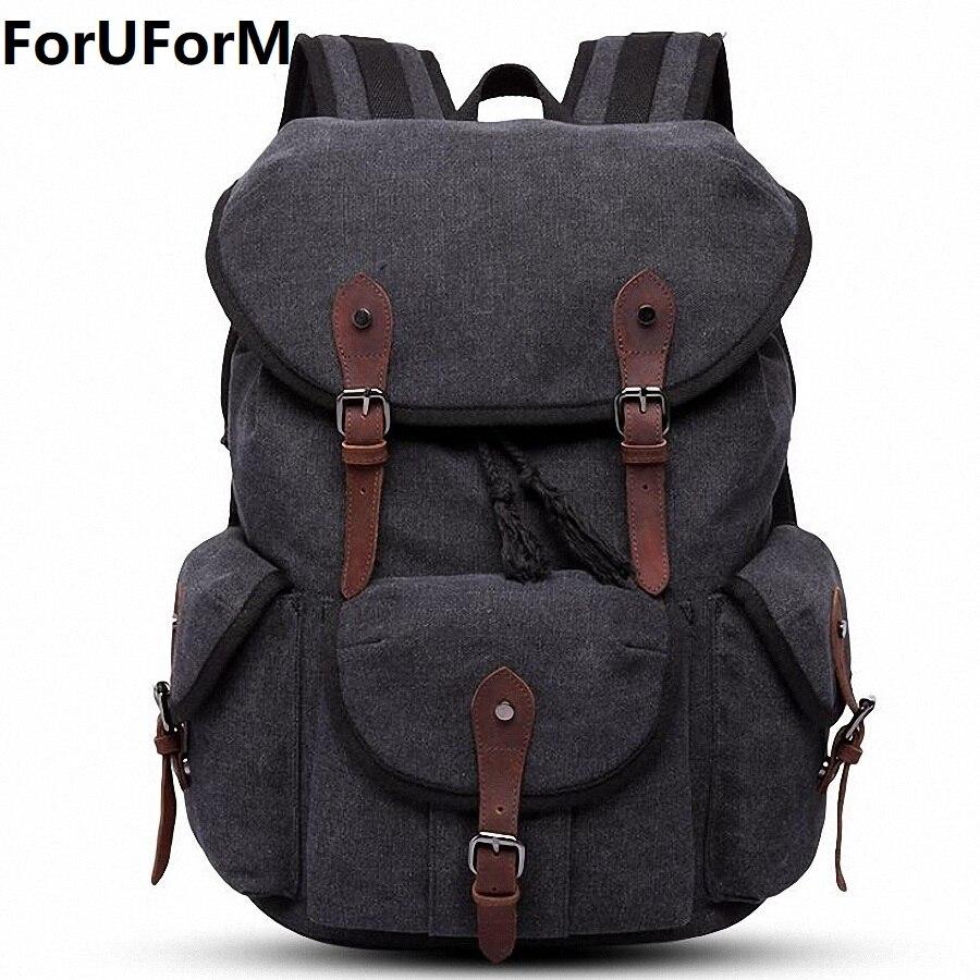 Men Laptop Backpack Rucksack Canvas School Bag Travel Backpacks for Teenage Male Notebook Bagpack Computer Knapsack Bags LI-2086