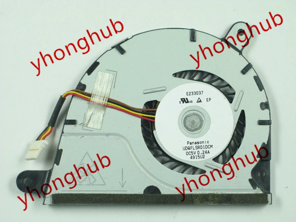 Free shipping For UDQFLSR01DCM DC 5V 0.24A 4-wire 4-pin connector Bare Fan