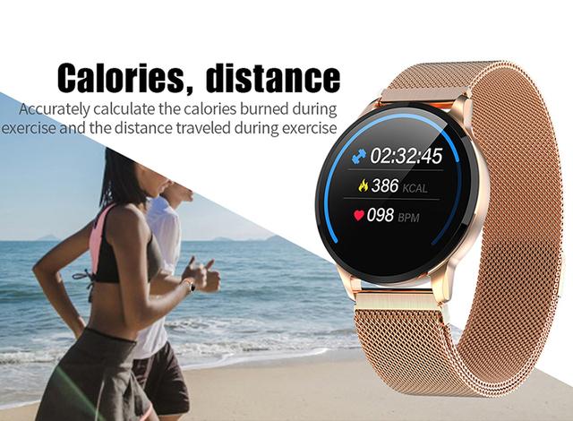 2019 New Fitness Smart Watch Women Running Heart Rate Monitor Bluetooth Pedometer Touch Intelligent Sports Smartwatch Women Men
