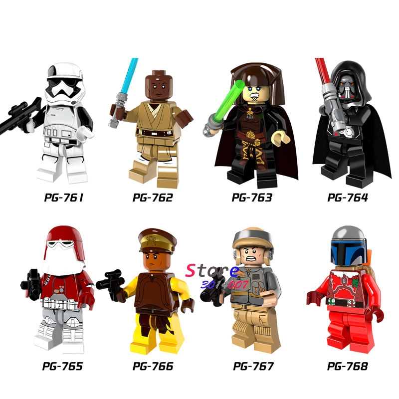 Single star wars Darth Vader Figure Windu Unduli Clone Trooper Red Snowtrooper Captain Panaka building blocks toys for children ksz star wars minifig darth vader white storm trooper general grievous figure toys building blocks