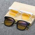 Óculos de computador Anti Blue Light Óculos Óculos Dos Homens Dos Vidros Transparentes Frame Da Liga E Do Vintage Rodada Full-Rim gdB2150