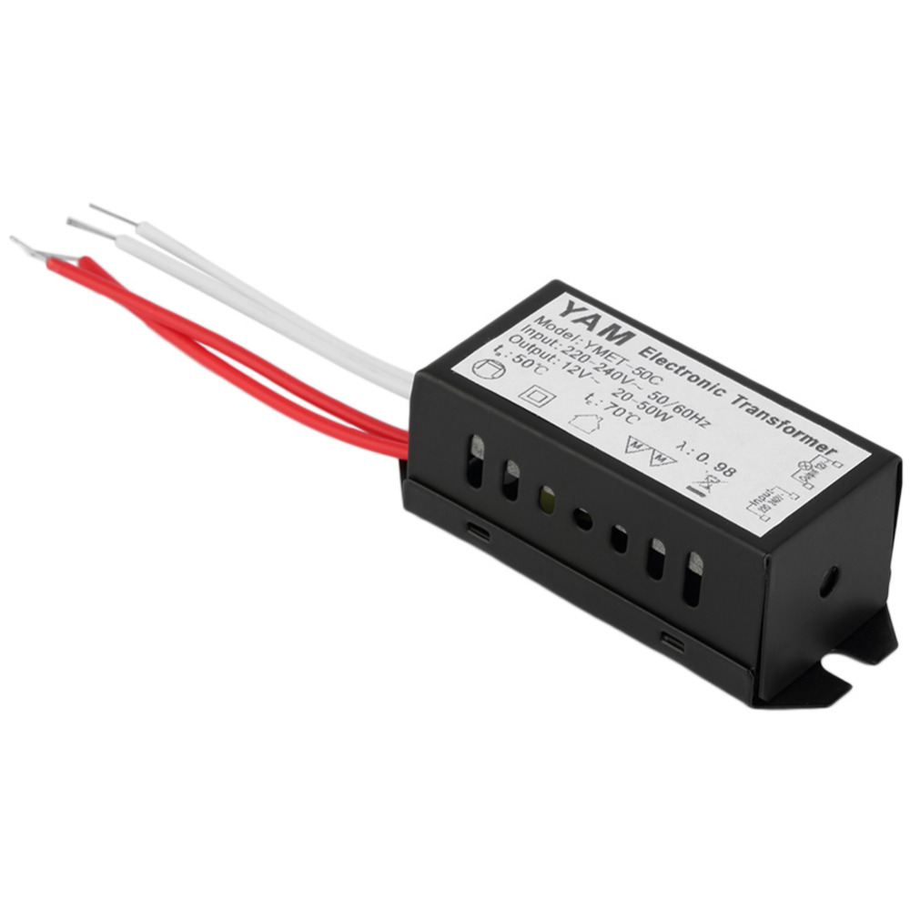 New AC 220V to 12V 20-50W LED Lighting Transformator Halogen Lamp Electronic Transformer LED Driver Power Supply