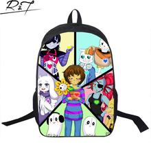 Hot Cool Undertale Printing Schoolbags For Boys Girls Fashion Young Men Women Backpack Gifts Mochilas Children Funny Book Bags