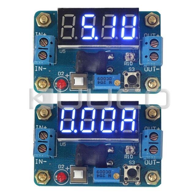 Power Adapter DC 4.5~24V to 1~20V 2A 20W Buck Converter Adjustable DC 5V/12V 2A Voltage Regulator + Blue LED Voltmeter Ammeter