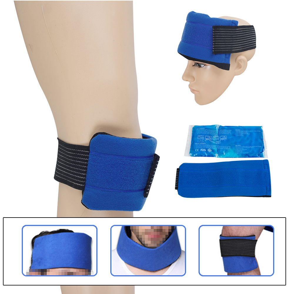 Massage & Relaxation Headgear, Wrist, Elbow, Knee Cloth Cover, Gel Hot and Cold Ice Pack 7pcs xiaomi skating cycling helmet knee pads elbow wrist brace set