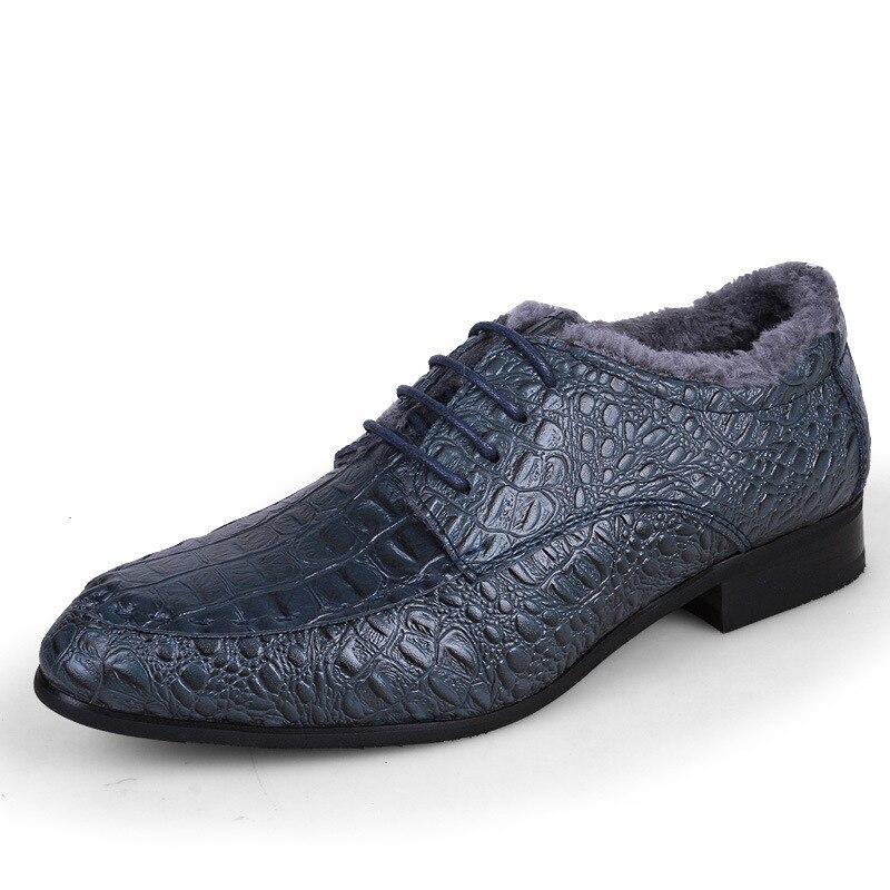 kaki 720 bleu De Mariage D'affaires Crocodile add En Hommes Chaussures Wool Cuir Hh Robe Pour Oxford Wool marron Véritable add Noir 7xfWCBRwq