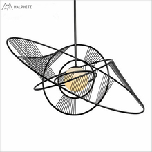 Post-modern minimalist bar restaurant chandelier Creative glass circular winding globe individuality creative art pendant lamp