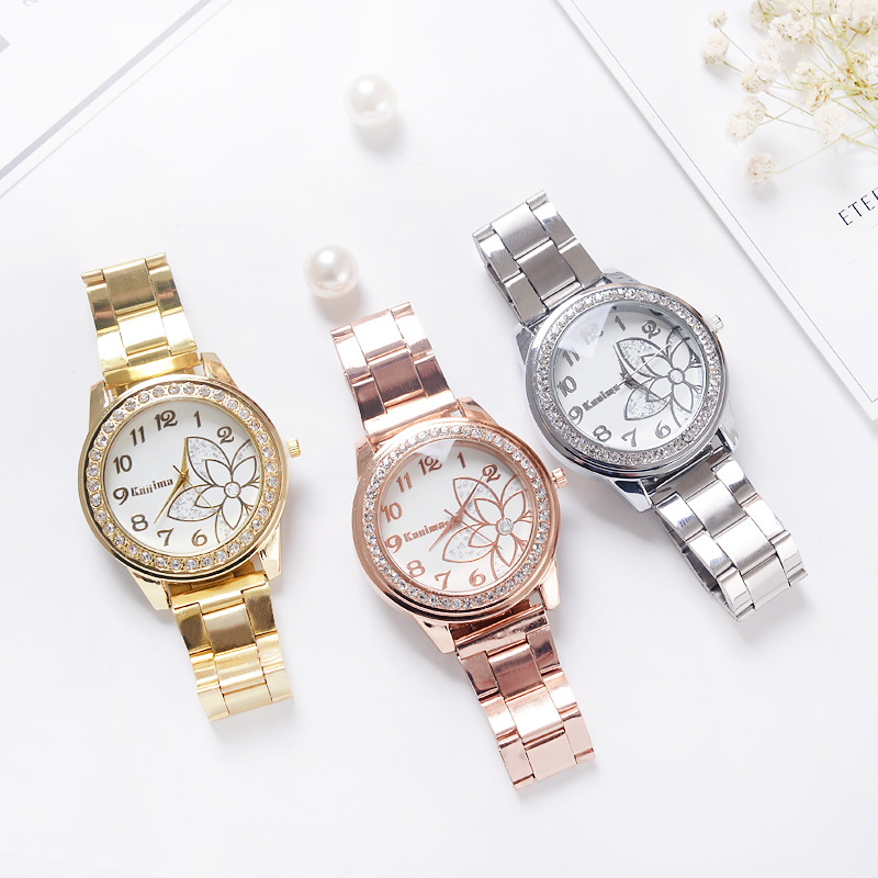 Cheap Wholesale 100PCS/LOT women watch top brand luxury quartz stainless steel clock watches A610 wristwatches relojes hombre