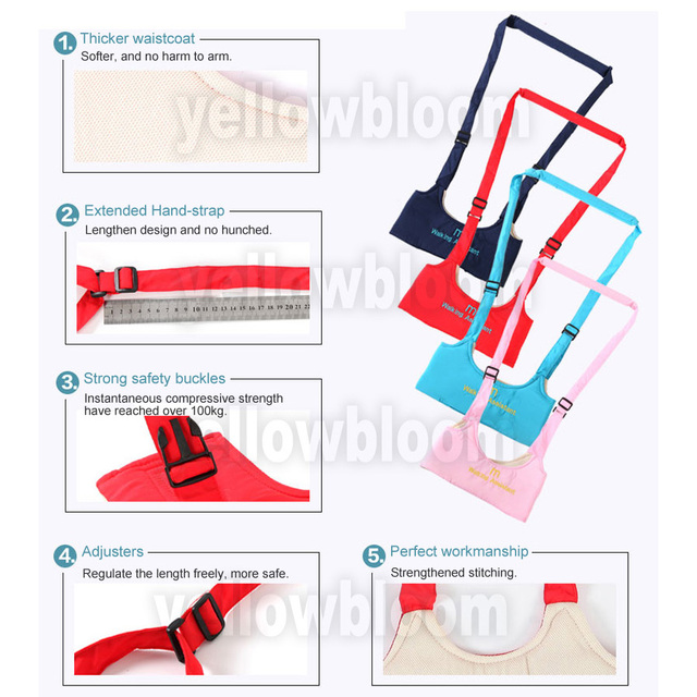 Hot sale Baby Walking Assistant Wings Toddler Safety Adjustable Walk Learning Harness Protection Belt Carrier Keeper Baby Walker | Happy Baby Mama