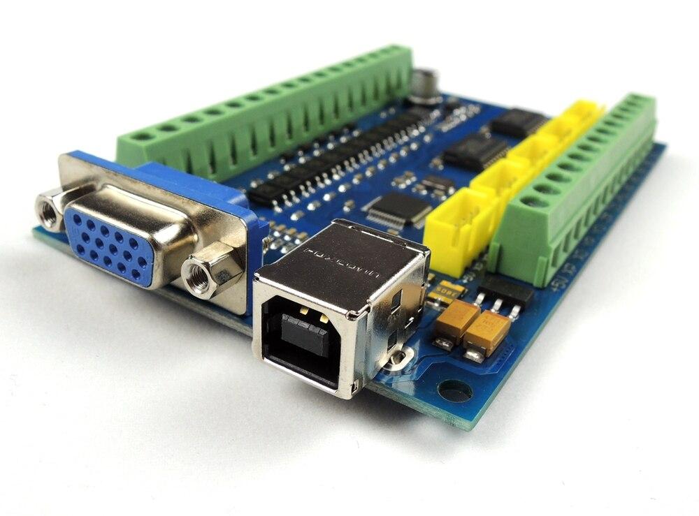 MACH3 USB CNC de 5 ejes 100 kHz suave paso a paso tarjeta de Control de movimiento de placa de adaptación + 4 unids TB6600 1 eje 4.5A controlador de Motor paso a paso de la Junta - 2