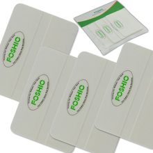 FOSHIO 4pcs White Card Squeegee Car Wrap Tools Scraper 10*7.3cm Window Tint Auto Glass Cleaning Vinyl Film Wrapping
