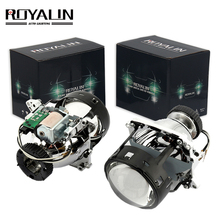 цены ROYALIN AL Bi Xenon Projector Headlights Lens D2S For BMW E46 E39 E60 X5 E70 Audi A3 A4 Mercedes W203 W204 VW Golf GTI Touran