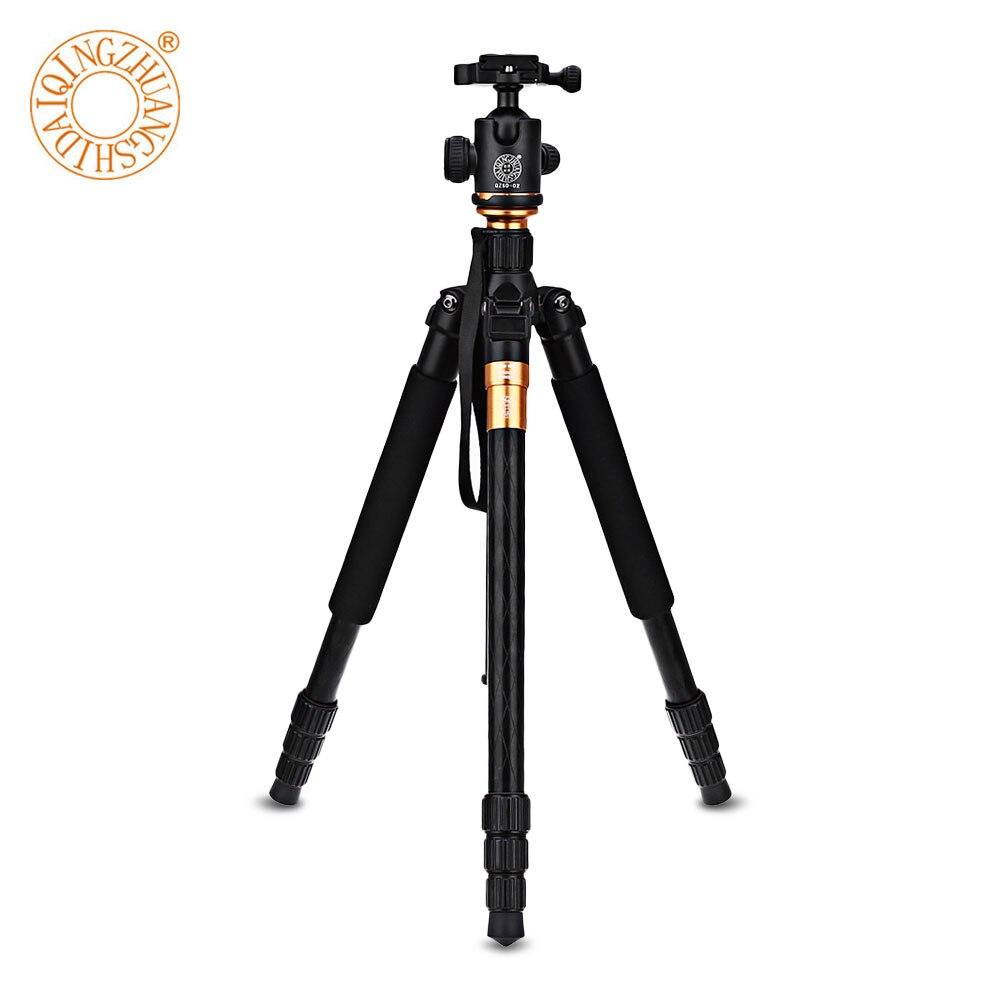 QZSD Q999 62.2 Inches Aluminium Magnesium Alloy Camera Video Tripod Monopod With Quick Release Plate qzsd q999 62 2 inches lightweight tripod monopod