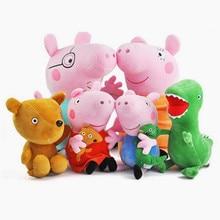 купить Peppa Pig George 19cm/30cm Stuffed Animals Plush Toys  For Kids Girls Baby Party Animal Plush Toys Gifts по цене 255.31 рублей