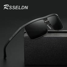 RSSELDN New Brand Men Polarized Sunglasses Black Style Male Square Glasses Driving Travel Eyewear Gafas 2017